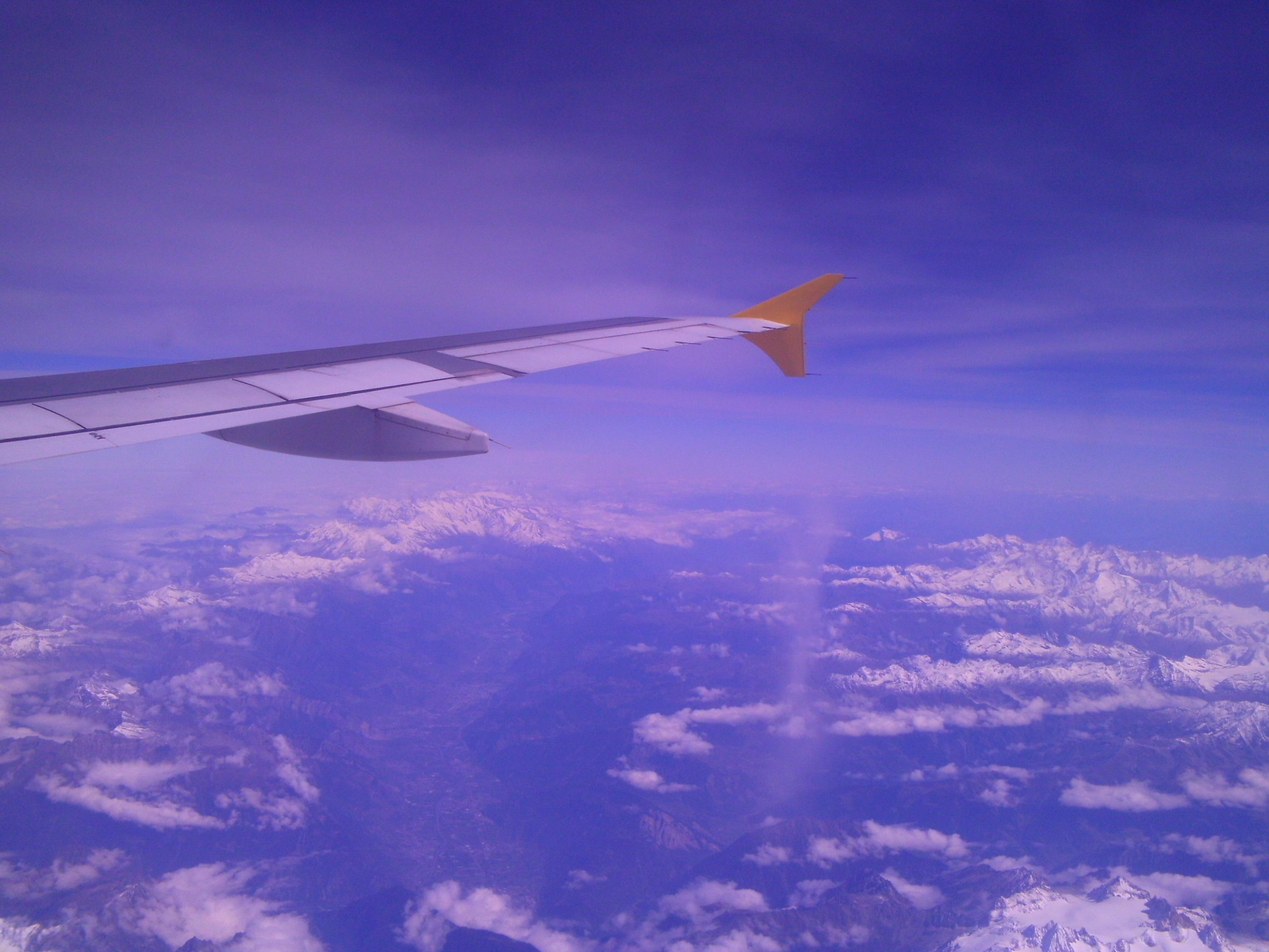 Flug Alicante-Stuttgart - iwo ueber den Alpen