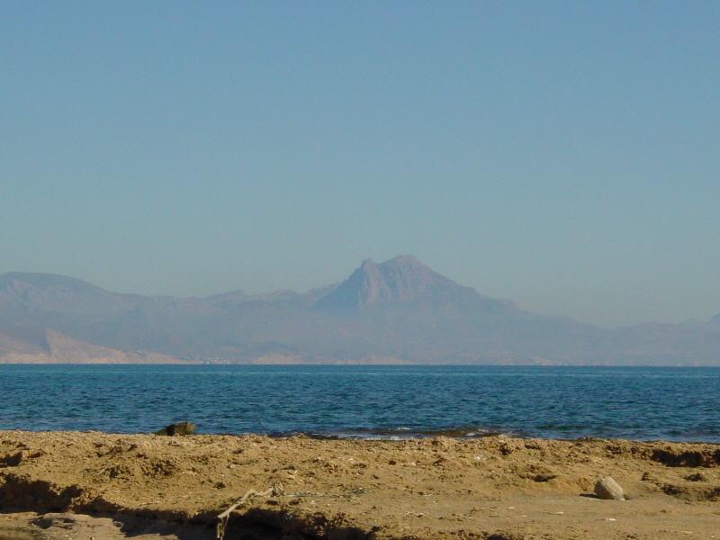 Puig Campana desde Cabo Huertas