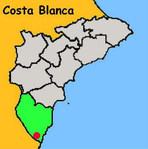 Karte Pilar de la Horadada