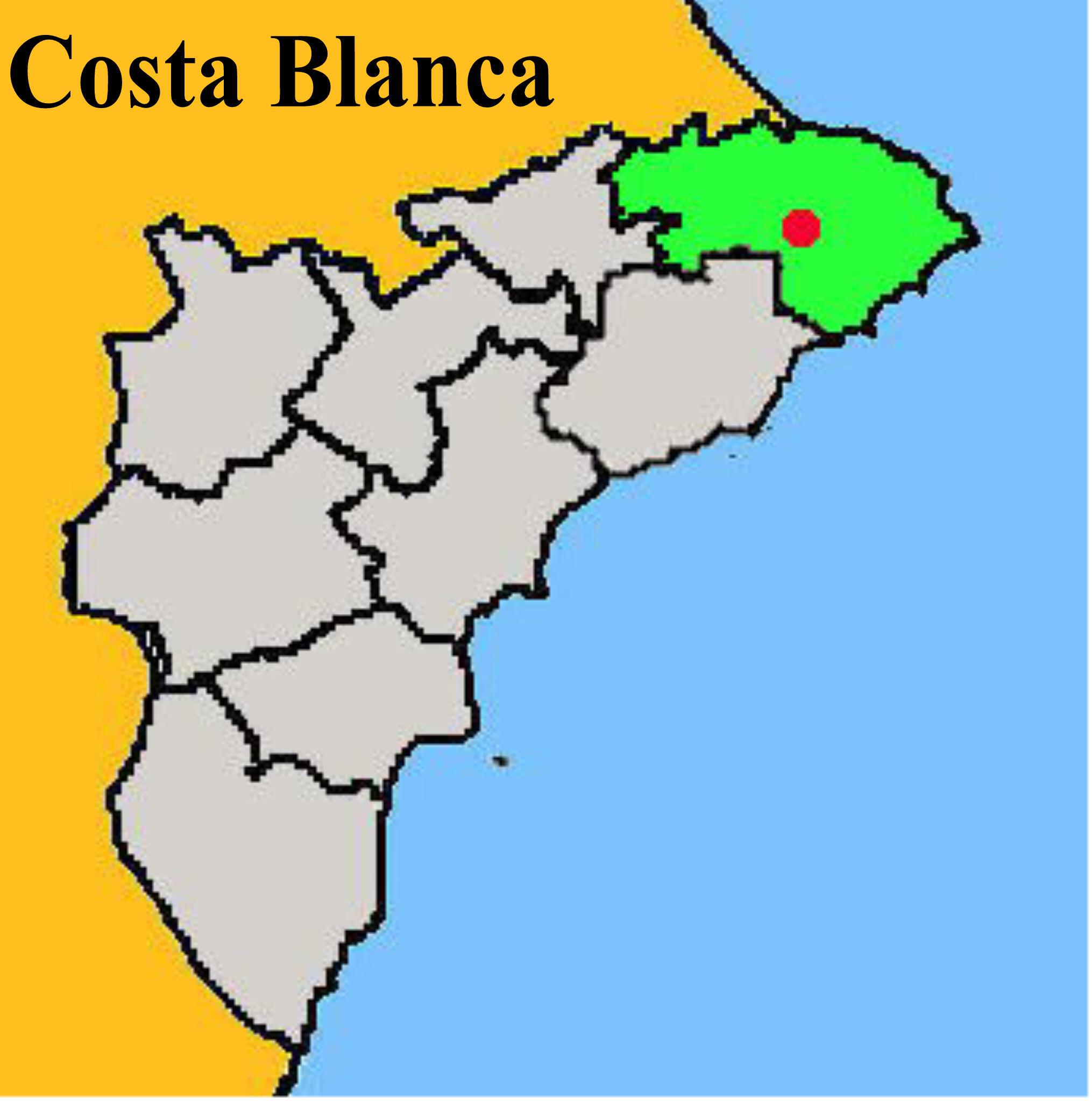 Mapa: Alcalali