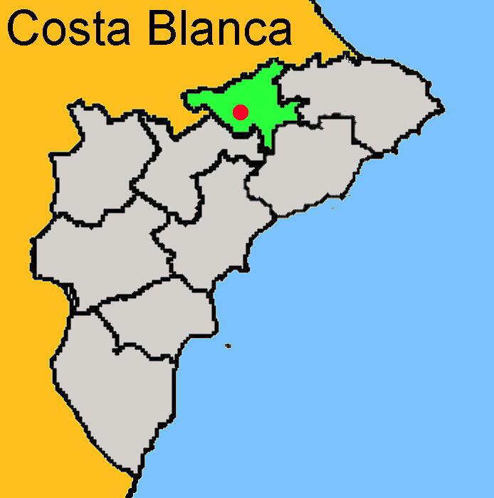 Karte: Cocentaina