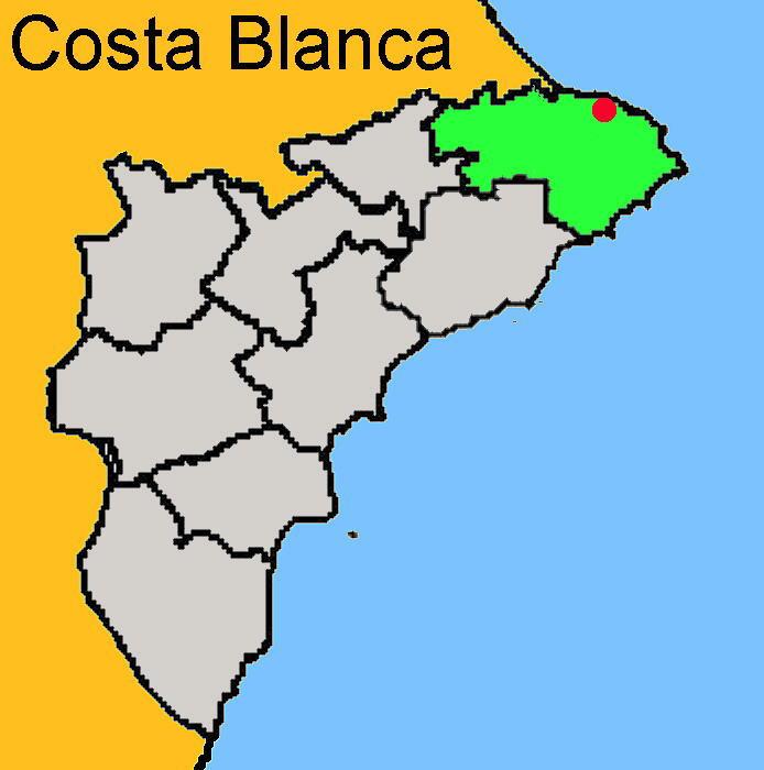 Karte: Dénia