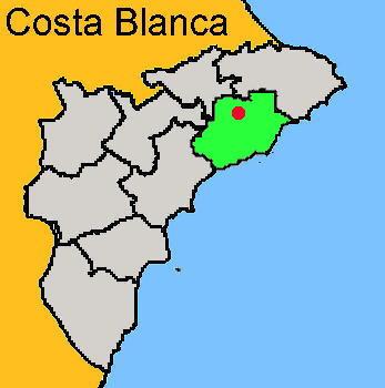 Karte: Guadalest