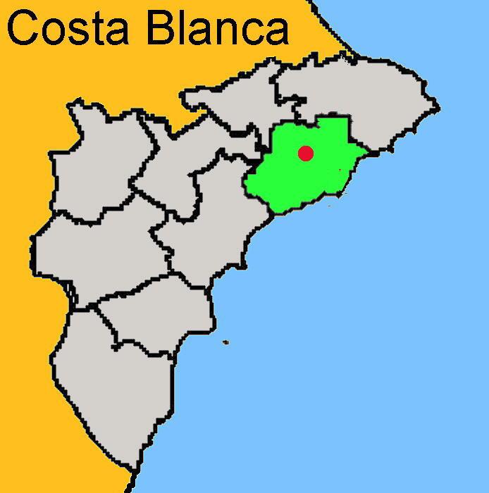 Karte: Callosa de Ensarriá